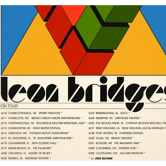 Leon Bridges Spring Tour 2019 Poster
