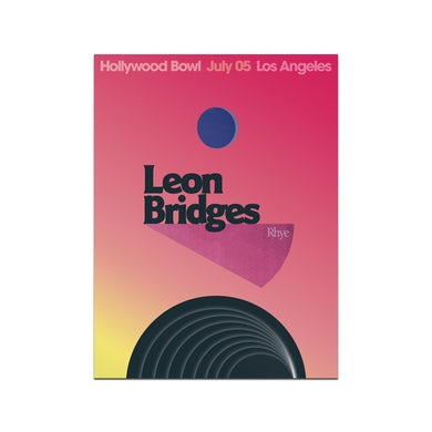 Leon Bridges Los Angeles Hollywood Bowl Poster July 5, 2019
