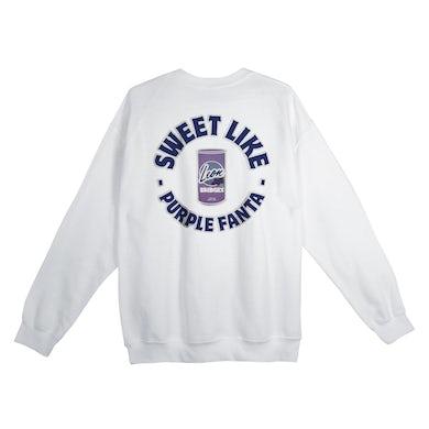 Leon Bridges Sweet Like Purple Fanta Crewneck Sweatshirt Limited Edition