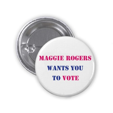 Maggie Rogers Wants You To Vote Button