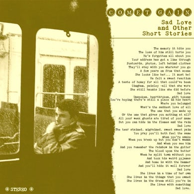 "Comet Gain 'Sad Love And Other Short Stories' Vinyl 7"" Vinyl Record"