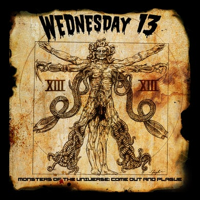 Wednesday 13 'Monsters of The Universe : Come Out And Plague' Vinyl Record