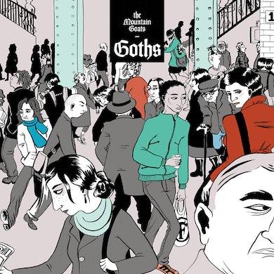 "The Mountain Goats 'Goths' Vampire Red Vinyl 2xLP + Green 12"" Vinyl Record"