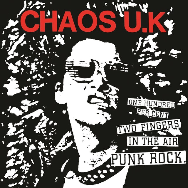 Chaos U.K. '100% Two Fingers In The Air Punk Rock' Vinyl LP Vinyl Record