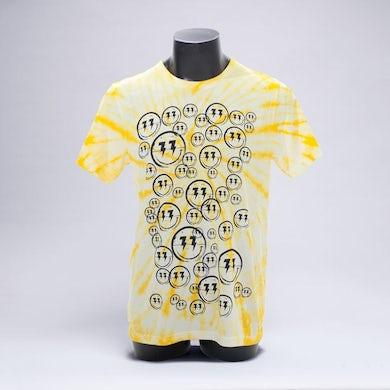 Bingo Players Smiley Pattern Yellow Tie Dye Shirt