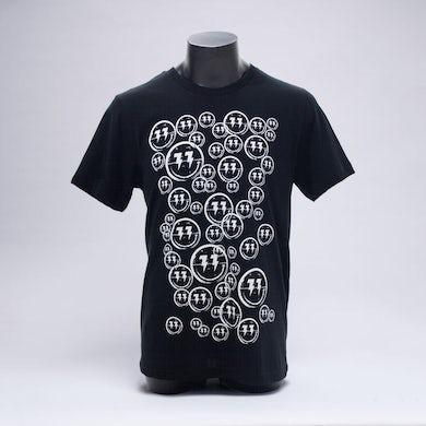 Bingo Players Smiley Pattern Black Shirt