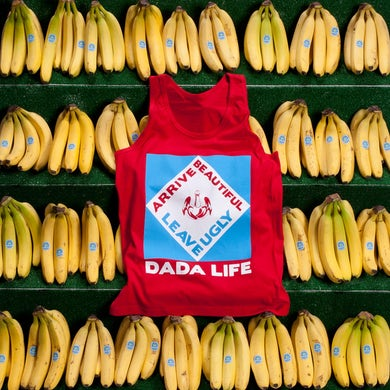 Dada Life ARRIVE BEAUTIFUL LEAVE UGLY TANK TOP // RED