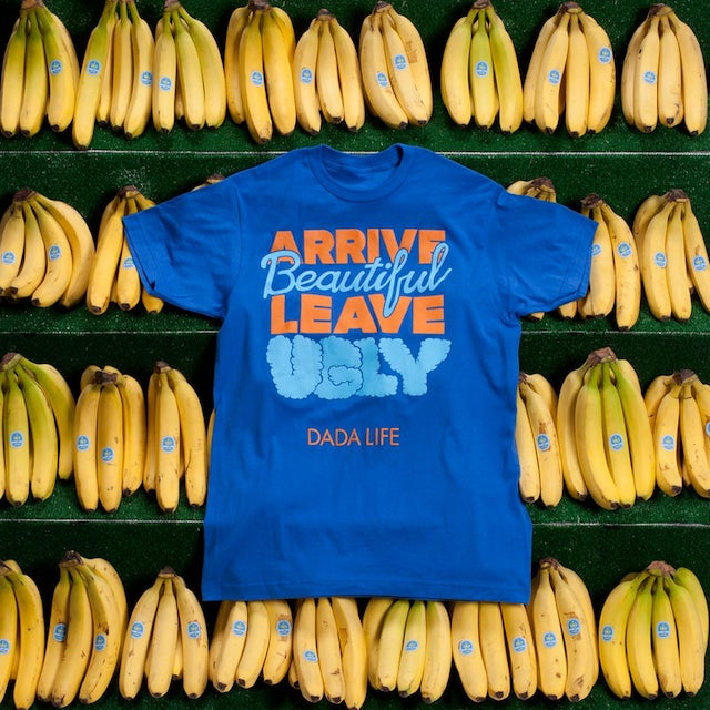 Dada Life ARRIVE BEAUTIFUL LEAVE UGLY TEE // BLUE