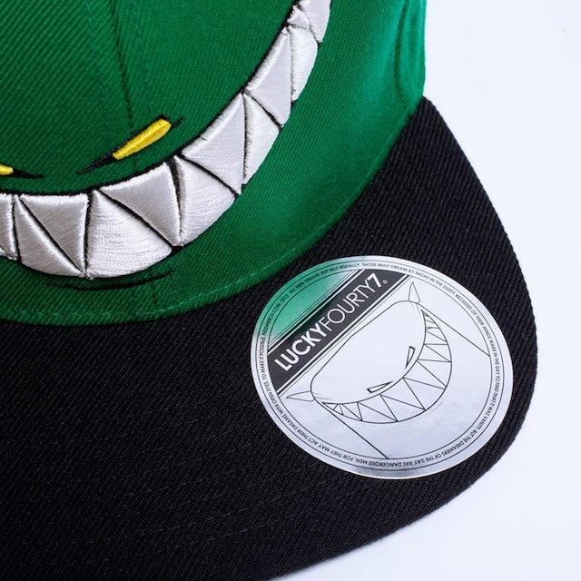 Feed Me Hat // Green Snapback Teeth