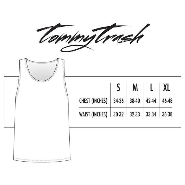 Tommy Trash Trashed Logo Tank | Yellow Print