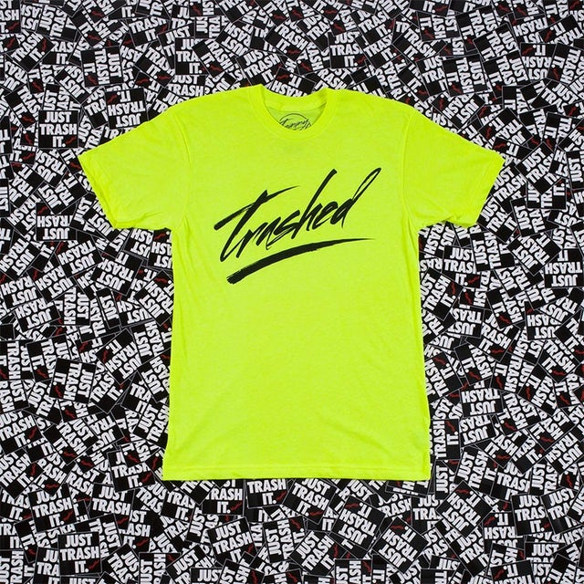 Tommy Trash Trashed Logo Tee | Neon Yellow