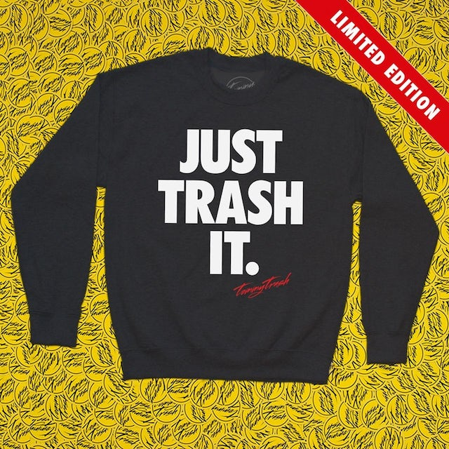 Tommy Trash Just Trash It Crewneck | Black