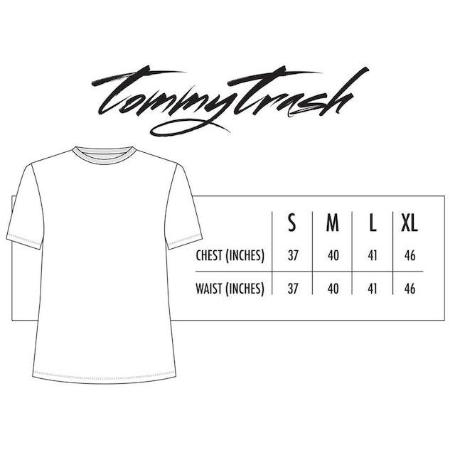 Tommy Trash Trashed Logo Tee | White