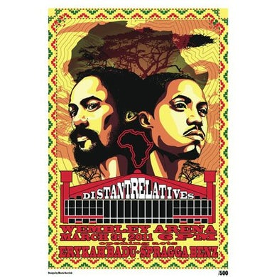 """Damian Marley & Nas """"Distant Relatives"""" Limited Edition Wembly Arena Lithograph"""