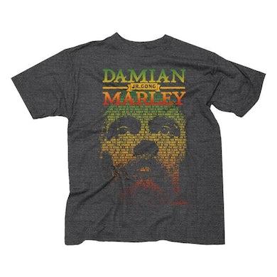 "Damian Marley ""Lyric Face And Name"" T-Shirt"
