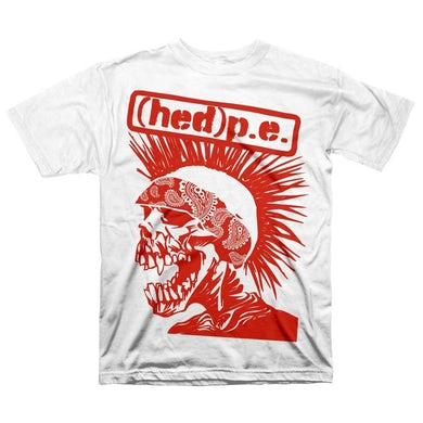 """Hed PE Hed P.E. """"Punx Not Ded"""" White T-Shirt"""