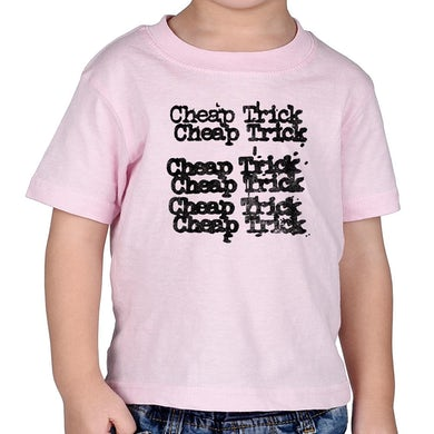 "Cheap Trick ""Stacked Logo"" Pink Kid's T-Shirt"