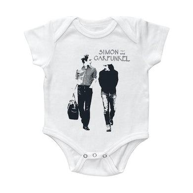 "Simon & Garfunkel ""Walking"" White Onesie"