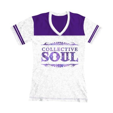 "Collective Soul ""Map Logo"" Women's Football T-Shirt"