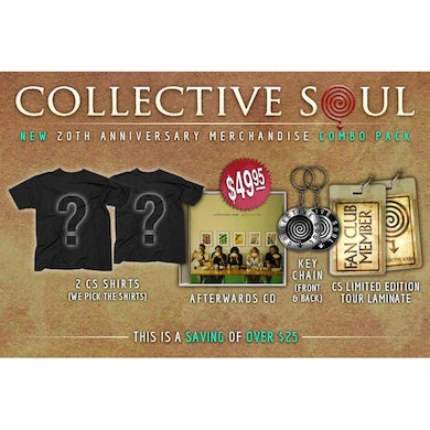 "Collective Soul ""20th Anniversary"" Men's Combo Pack."