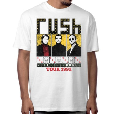 Rush Roll the Bones T-Shirt in White