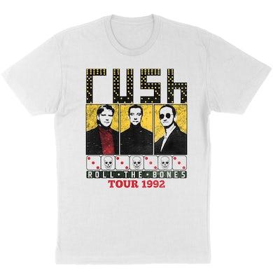 """Rush """"Roll the Bones"""" T-Shirt in White"""