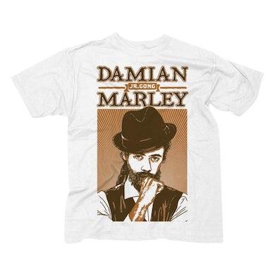 "Damian Marley ""Mr Marley"" Men's White T-Shirt"
