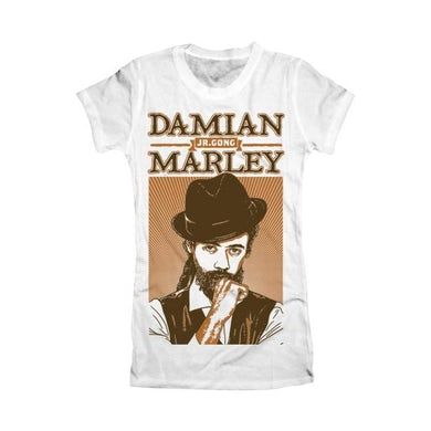 "Damian Marley ""Mr Marley"" Women's White T-Shirt"