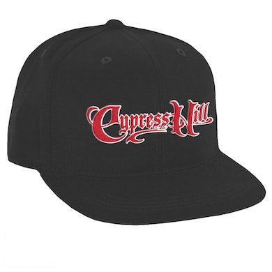 """Cypress Hill """"Script Logo"""" Snapback Hat in Black"""