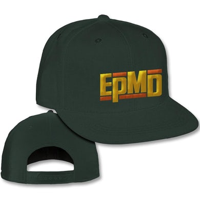 """EPMD """"Classic Logo"""" Snapback Hat in Army Green"""