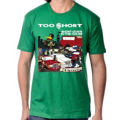 "Short Dog In The House"" T-Shirt in Green"