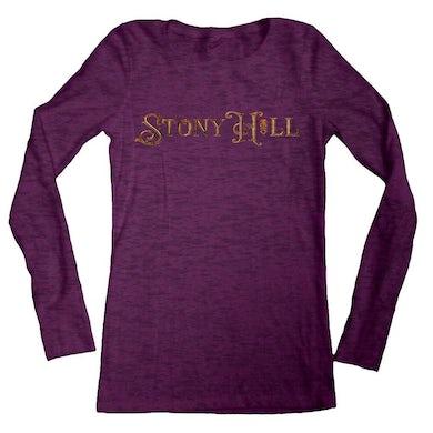 "Damian Marley ""Stony Hill"" logo women's purple long sleeve burnout t-shirt"
