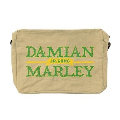 """Damian Marley """"Jr. Gong"""" logo messenger bag"""