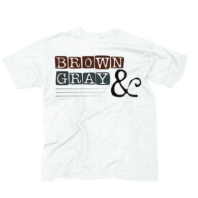 """Brown & Gray """"Boxed Logo"""" T-Shirt"""