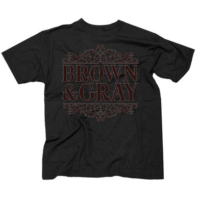 "Brown & Gray ""Victorian Design"" T-Shirt"