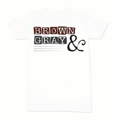 "Brown & Gray ""Boxed Logo"" Women's T-Shirt"
