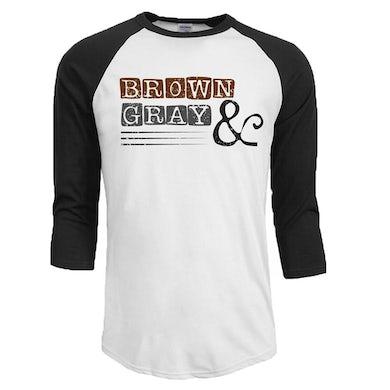 """Boxed Logo"" Unisex 3/4 Sleeve Raglan T-Shirt"