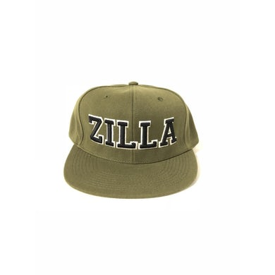 "Damian Marley ""Zilla"" army green velcro strap back baseball hat"