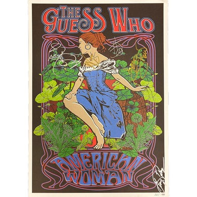 """The Guess Who LIMITED """"American Woman"""" Autographed Poster"""