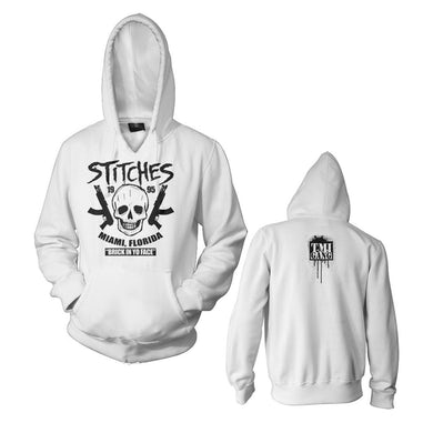 "Stitches ""Brick In Yo Face"" White Pullover Hoodie"