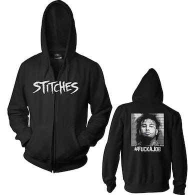 "Stitches ""Mug Shot"" Black Zip Hoodie"