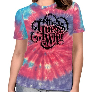 """The Guess Who """"Classic Logo"""" Women's Tie Dyed T-shirt"""