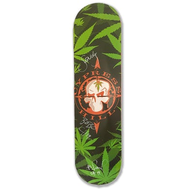 """Cypress Hill """"Skull And Compass"""" AUTOGRAPHED Limited Edition Skate Deck"""