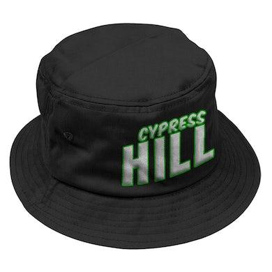 """Cypress Hill """"Block Logo"""" Bucket Hat in Black"""