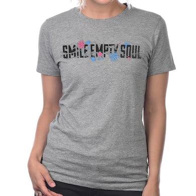 "Smile Empty Soul ""Flower Logo"" Women's T-Shirt - Grey"