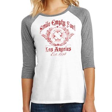 "Smile Empty Soul ""EST. 1998"" 3/4 Sleeve Women's Raglan Shirt"