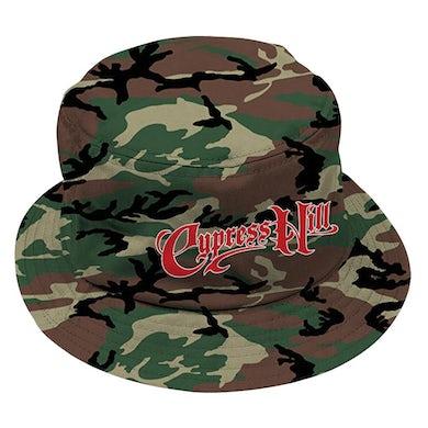 "Cypress Hill ""Script Logo"" Camo Bucket Hat"