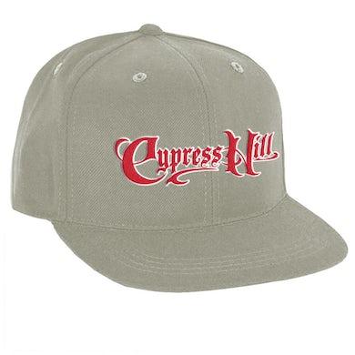 "Cypress Hill ""Script Logo"" Grey Snap Back Baseball hat"