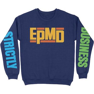 "EPMD ""Strictly Business"" Navy Blue Sweatshirt"