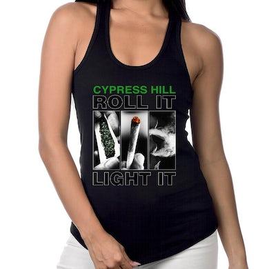 """Cypress Hill """"Roll It"""" Women's Racer Back Tank Top"""